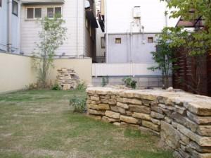 池&ウッドフェンス施工|大阪市のT様邸